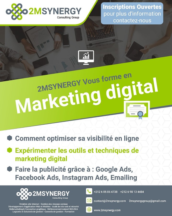 formation en marketing digital à Fès au maroc
